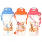 Cartoon Figure Water Cup with Cover/Straw/Strap - Color Assorted (550ml)