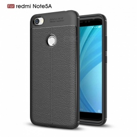 ZHAOYAO Soft Rubber TPU Protective Back Cover Case for Xiaomi Redmi Note 5A - Black