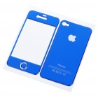 Protective Crystal Skin Stickers for iPhone 4 - Blue