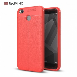 ZHAOYAO Soft Rubber TPU Protective Case, Back Cover for Xiaomi Redi 4X - Red