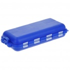 Portable 16-Compartment Plastic Fishing Tackle Box - Blue