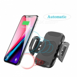 Measy Infrared Induction Air Vent Phone Holder with QI Wireless Charger for Car, Best Car Charger Phone Holder