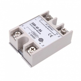 BTOOMET 24V-380V 40A SSR-40 DA Solid State Relay Module for PID Temperature Controller 3-32V DC To AC