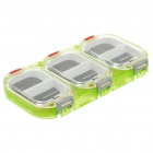 Portable 3-Compartment PVC Fishing Tackle Box - Translucent Green