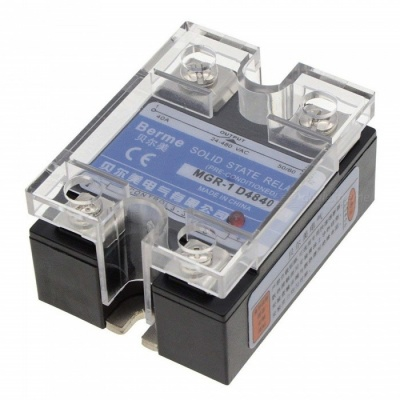 BTOOMET 2Pcs 40A SSR Solid State Relay, 24-480V AC Controlled by 3-32V DC (Insulation Protection Cover Included)