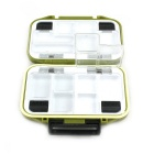 Portable 15-Compartment PVC Fishing Tackle Box - Fluorescence Green