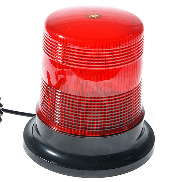 Vehicle Roof Magnet Mount Xenon Warning Strobe Light (Red)