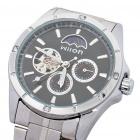 Wilon Automatic Mechanical Wrist Watch - Silver + Black