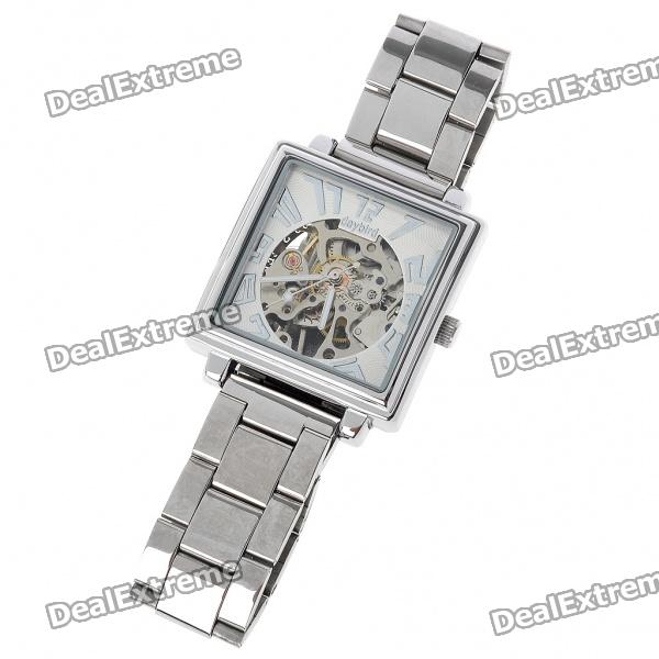 Daybird Manual-Winding Mechanical Wrist Watch - Silver + White