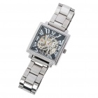 DayBird Manual-Winding Mechanical Wrist Watch - Silver + Black