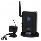 Ultra-Mini 2,4 GHz Wireless-Surveillance Audio / Video-Kamera w / 4-Kanal-Receiver - Schwarz (1-Kamera-Set)