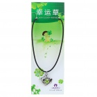 Stylish Lucky Clover Constellation Style Pendant Necklace - Pisces