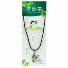 Stylish Lucky Clover Constellation Style Pendant Necklace - Scorpio
