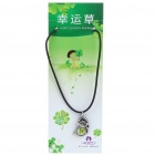 Stylish Lucky Clover Constellation Style Pendant Necklace - Leo