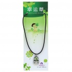 Stylish Lucky Clover Constellation Style Pendant Necklace - Libra
