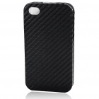 Stylish Protective PU Leather Case for iPhone 4 - Black