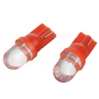 High Powered LED Vehicle Signal Lights 2-Pack (12V T10 Red)