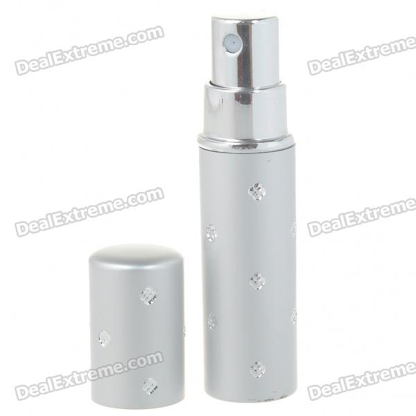 Vintage Portable Aluminum Glass Perfume Spray Bottle (3ml)