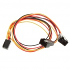 3-Pin Female to Dual Male Extension Split Cable (30CM-Length)
