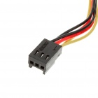 Female to Dual Male Extension Cable - Black + Multicolored (30cm)
