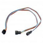 PWM 4-Pin Female to Dual Male Extension Split Cable (30CM-Length)