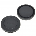 Camera Body + Rear Lens Cap Cover Set for Sony NEX3/NEX5 - Black