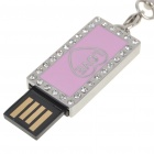 Mode USB 2.0 kärlek mönster Flash Drive minne bricka - Silver + rosa (8G)