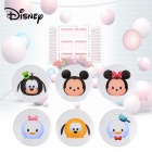Disney TSUM TSUM Cartoon Magnet Box Case With 6Pcs Magnetic Stickers For Kids Children White