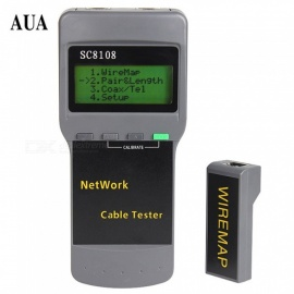 ZHAOYAO SC8108 Portable LCD Network Tester Meter LAN Phone Cable Tester With LCD Display RJ45