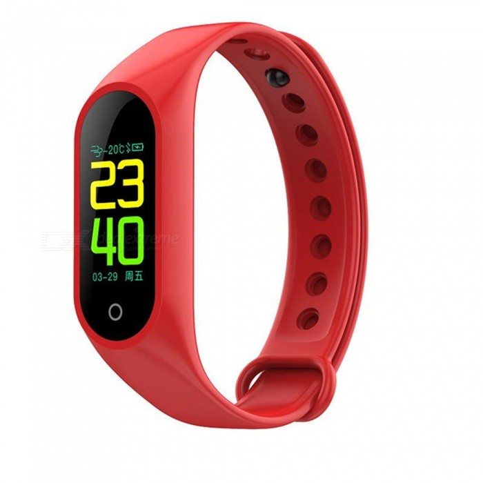 M3 Color Bluetooth Smart Bracelet With Exercise Heart Rate Blood Pressure Sleep Monitoring Wechat Red