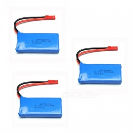 3Pcs 3.7V 780mAh 603048 Lithium Polymer High Power Li-po Batteries for Syma X8C X8W RC Quadcopter - Blue
