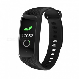 S4 Color Screen Bluetooth Smart Bracelet IP67 Waterproof Activity Tracker - Black