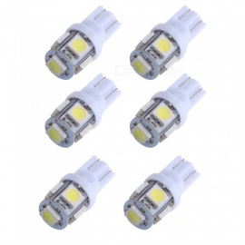 CARKING 6PCS Car T10 White 5050 5 SMD LED Braking Turning Light Wedge Lamps