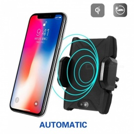 Measy Wireless Car Charger Mount, Automatic Infrared Sensor 2-in-1 Air Vent Bracket Phone Holder Gravity Car Mount Fast Charger