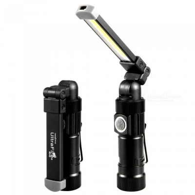 W548 COB 5 Modes 200lm Waterproof Camping Work Light Rechargeable USB LED Car Work Lamp - Black