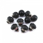 CARKING Flush Mount Momentary On Off Reset Push Button Switch, Round Toggle Switch for Car Boat (10 PCS)
