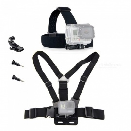 XSUNI Adjustable Body Harness Chest Belt Mount Headband with Screws for SJCAM, Gopro