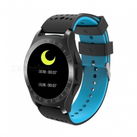IMOS KY009 Smart Bracelet Color Screen Sports Wrist Heart Rate Blood Pressure Monitoring - Black + Blue
