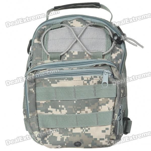 Vintage Multi-Pocket 700D Oxford Cloth Messenger/Shoulder/Back/Chest Bag - ACU Camouflage