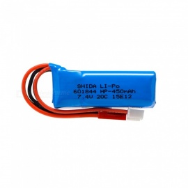 7.4V 450mAh 601844 Lithium Polymer High Power Li-po Battery for Syma X8C X8W RC Quadcopter - blue