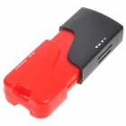 Lighter Shaped USB 2.0 M2/TF/MS/SDHC Card Reader (Red + Black)
