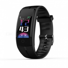 QS100 Color Screen Bluetooth Intelligent Bracelet with Continuous Heart Rate / Sleep Monitoring - Black