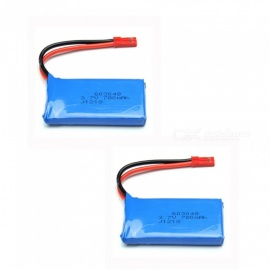 2 PCS 3.7V 780mAh 603048 Lithium Polymer High Power Li-po Batteries for Syma X8C X8W RC Quadcopter - blue