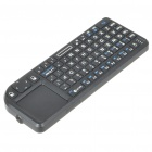 Handheld Rechargeable 2.4G Mini Wireless Keyboard with TrackPad and Red Laser
