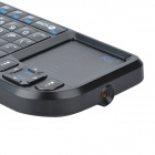 Handheld Rechargeable Bluetooth V2.0 2.4G Mini Wireless Keyboard with TrackPad and Red Laser