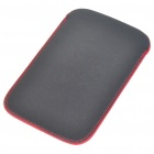 Protective PU Leather Case for HTC Desire HD (Black + Red)