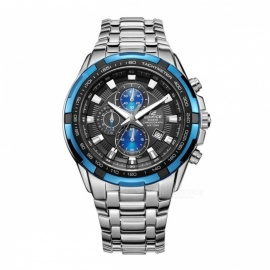Casio Edifice EF-539D-1A2 Stainless Steel Watch - Silver & Blue