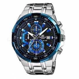 Casio Edifice EFR-539D-1A2 Standard Chronograph Watch - Blue + Silver