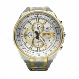 Casio Edifice EFR-549SG-7A Standard Chronograph Stainless Steel Watch - Silver & Gold