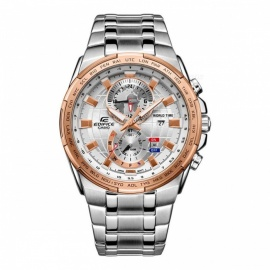 Montre casio edifice EFR-550D-7A montre cadran double monde - or rose